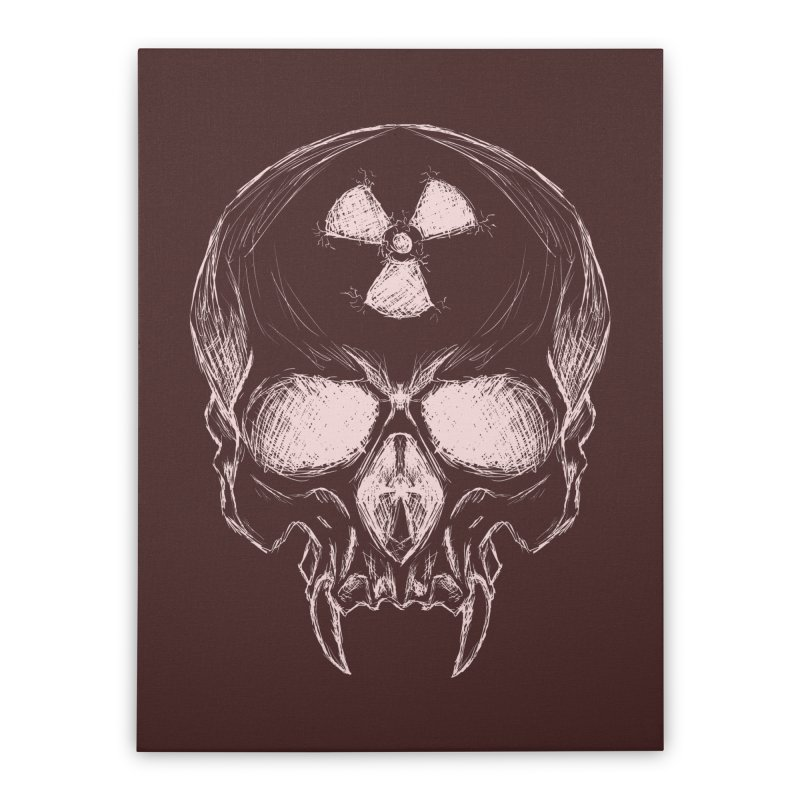 Night Shift Vampire Outline Light Home Stretched Canvas by Bandit Bots