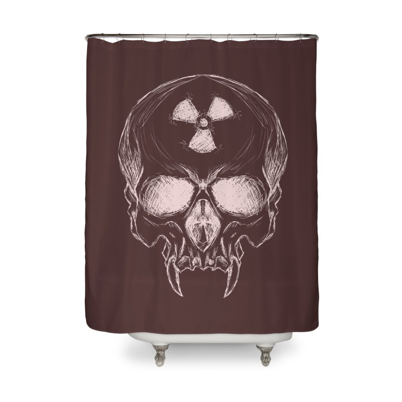 Night Shift Vampire Outline Light Home Shower Curtain by Bandit Bots