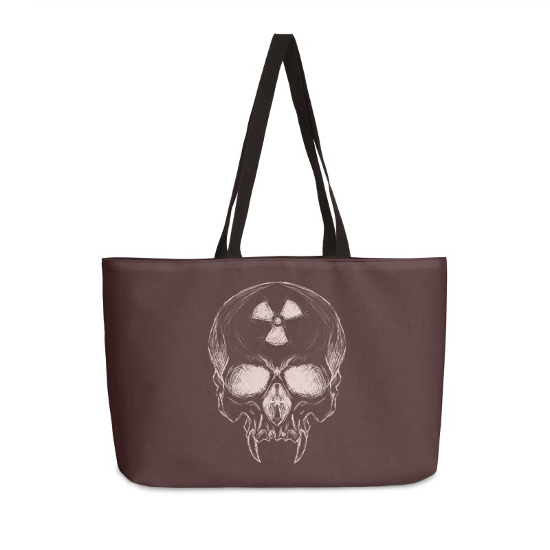 Night Shift Vampire Outline Light Accessories Weekender Bag Bag by Bandit Bots