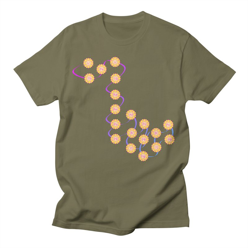 Isotopic Flower Chain Men's T-Shirt by Bandit Bots