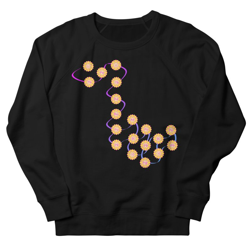 Isotopic Flower Chain Women's French Terry Sweatshirt by Bandit Bots