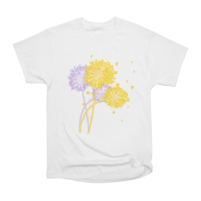 Dandelion Dreams Women's Heavyweight Unisex T-Shirt by Bandit Bots