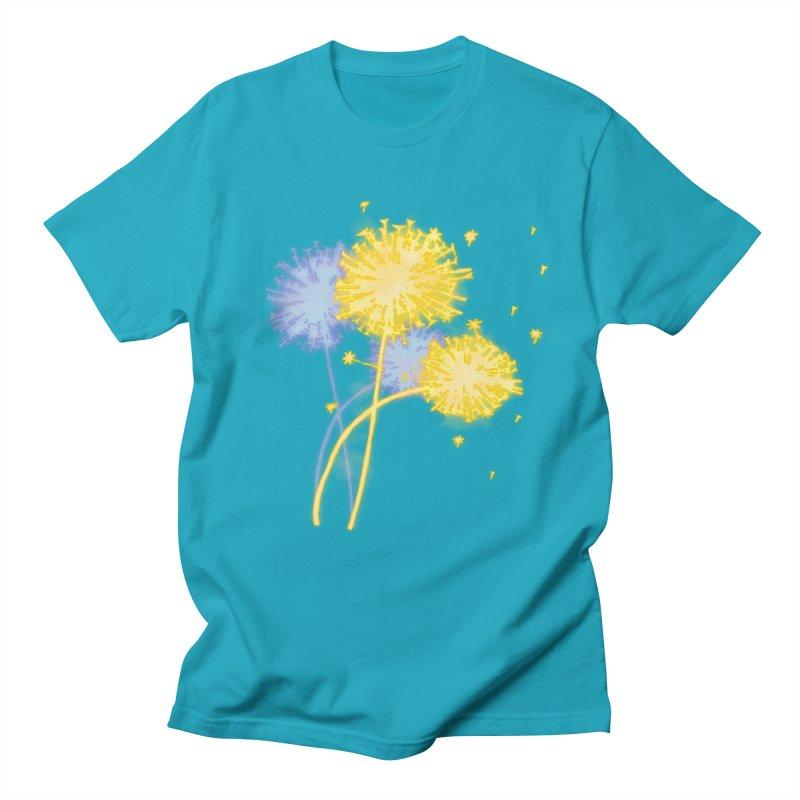 Dandelion Dreams Men's Regular T-Shirt by Bandit Bots