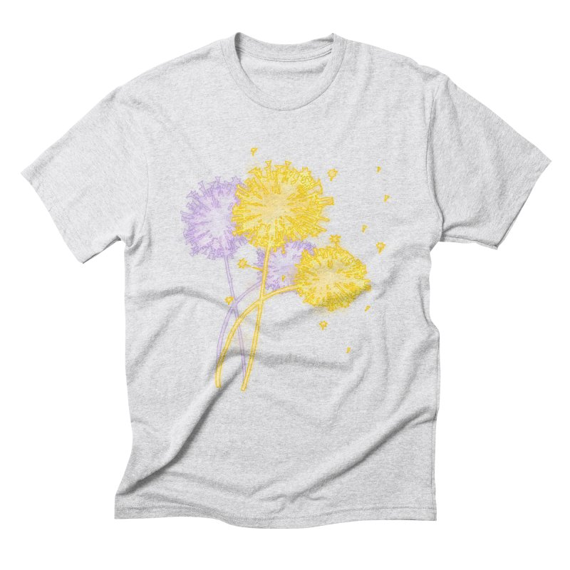 Dandelion Dreams Men's Triblend T-Shirt by Bandit Bots