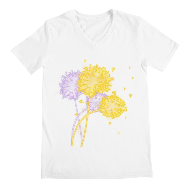 Dandelion Dreams Men's V-Neck by Bandit Bots