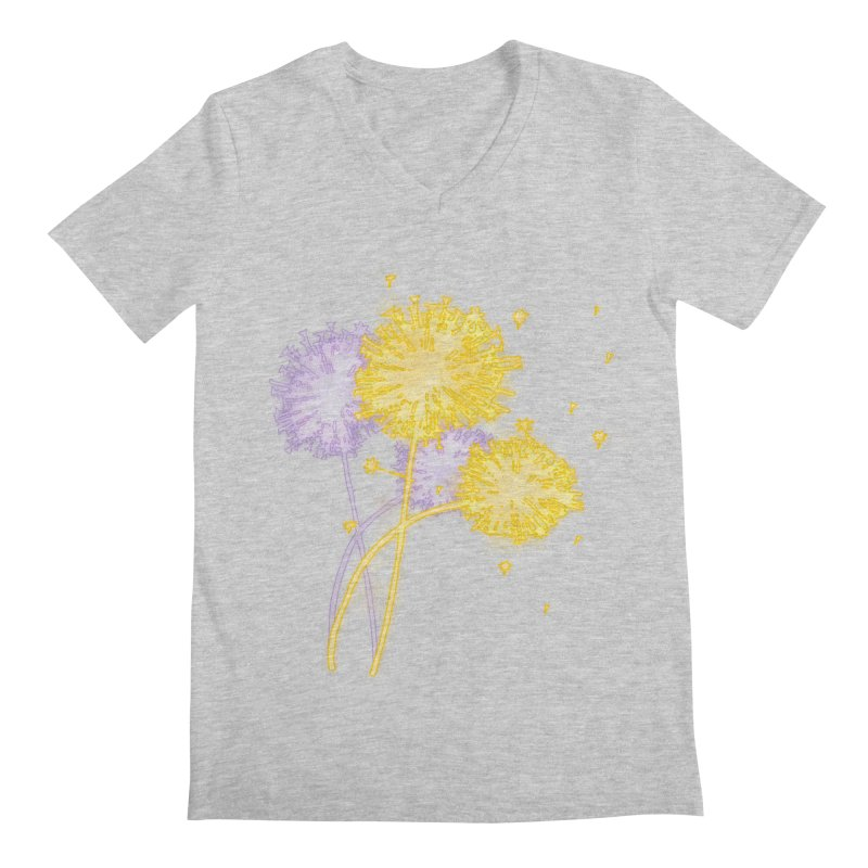 Dandelion Dreams Men's Regular V-Neck by Bandit Bots