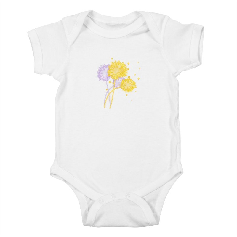 Dandelion Dreams Kids Baby Bodysuit by Bandit Bots