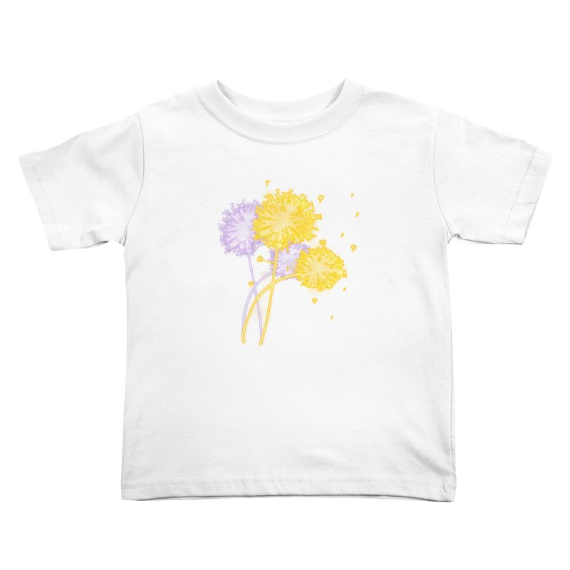 Dandelion Dreams Kids Toddler T-Shirt by Bandit Bots
