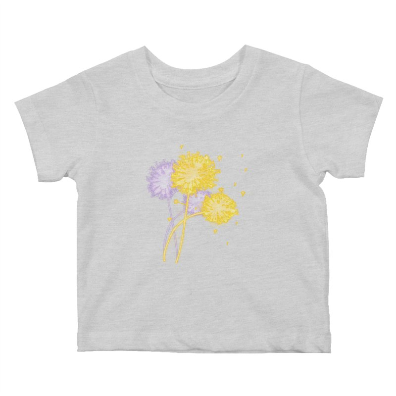 Dandelion Dreams Kids Baby T-Shirt by Bandit Bots