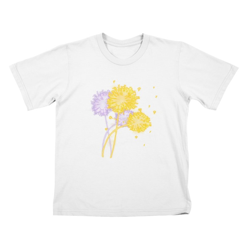 Dandelion Dreams Kids T-Shirt by Bandit Bots