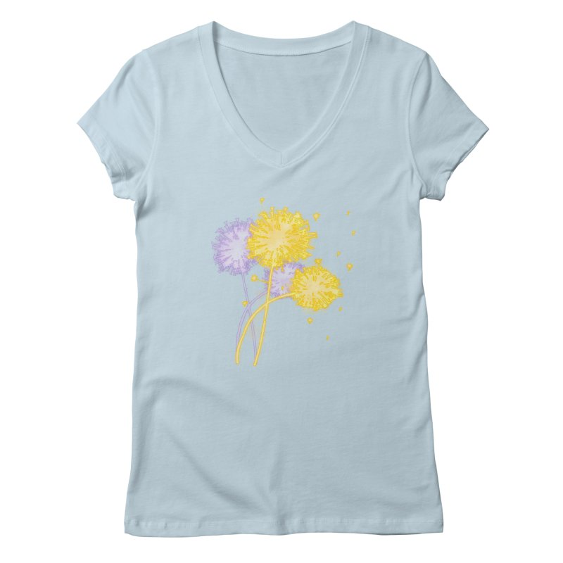 Dandelion Dreams Women's V-Neck by Bandit Bots
