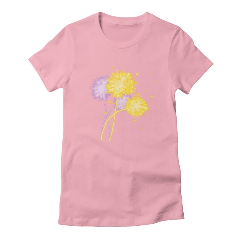 Dandelion Dreams Women's Fitted T-Shirt by Bandit Bots