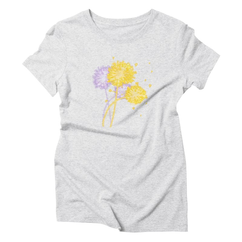 Dandelion Dreams Women's Triblend T-Shirt by Bandit Bots