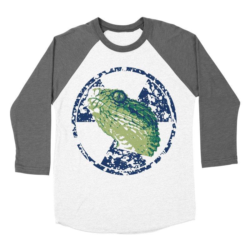 Rad Snek Men's Baseball Triblend Longsleeve T-Shirt by Bandit Bots