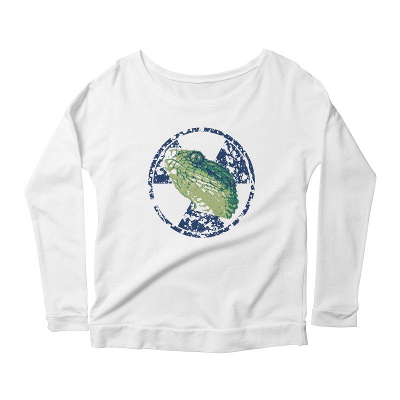 Rad Snek Women's Scoop Neck Longsleeve T-Shirt by Bandit Bots