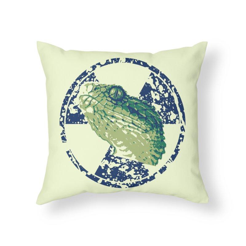 Rad Snek Home Throw Pillow by Bandit Bots
