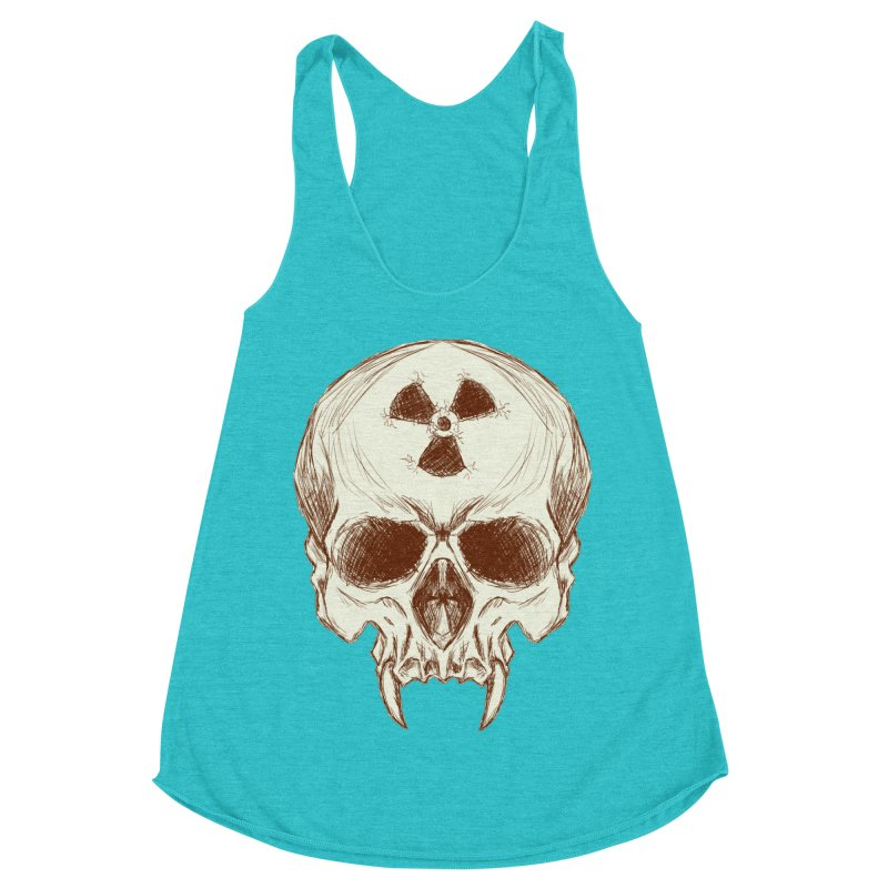 Night Shift Vampires Women's Racerback Triblend Tank by Bandit Bots