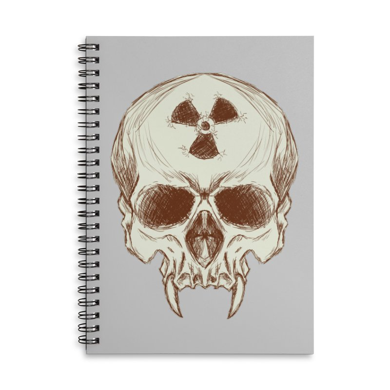 Night Shift Vampires Accessories Lined Spiral Notebook by Bandit Bots
