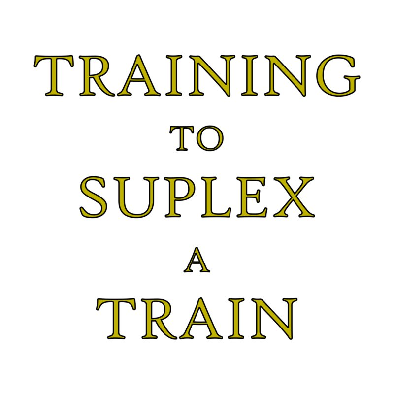Train to Suplex Men's Tank by Bandit Bots