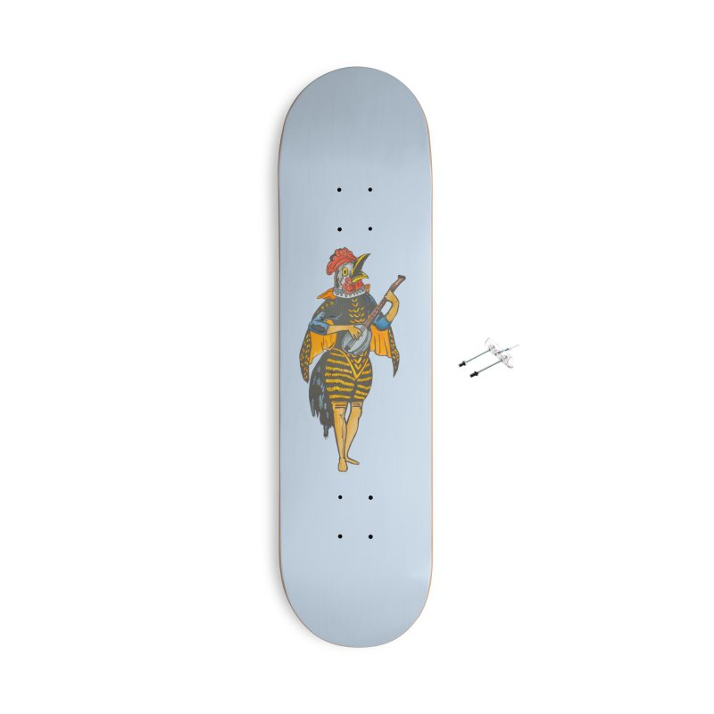 Banjo Rooster Accessories Skateboard by BareBonesStudio's Artist Shop