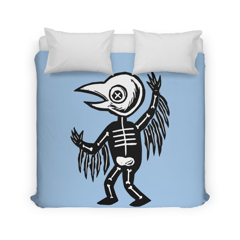 Little Birdie Home Duvet by BareBonesStudio's Artist Shop