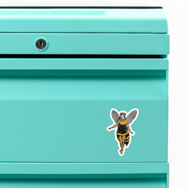 Honey Bee Accessories Magnet by BareBonesStudio's Artist Shop