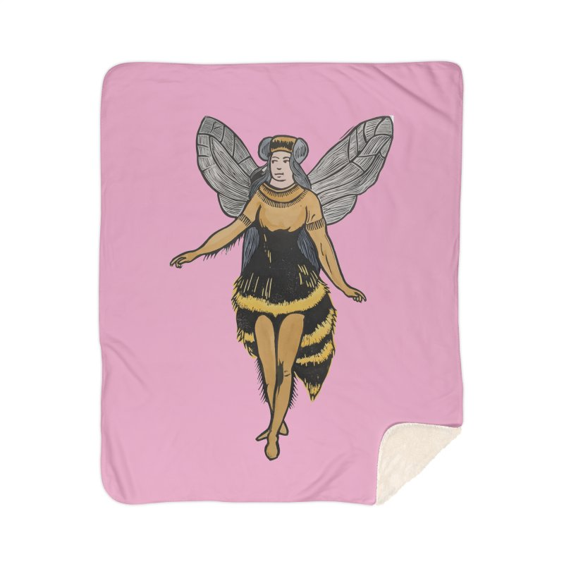 Honey Bee Home Blanket by BareBonesStudio's Artist Shop