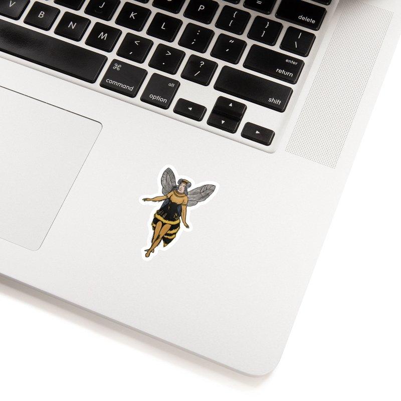 Honey Bee Accessories Sticker by BareBonesStudio's Artist Shop
