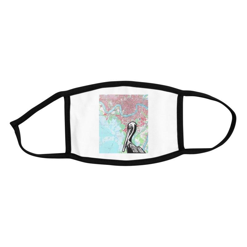 New Orleans Pelican Accessories Face Mask by BareBonesStudio's Artist Shop