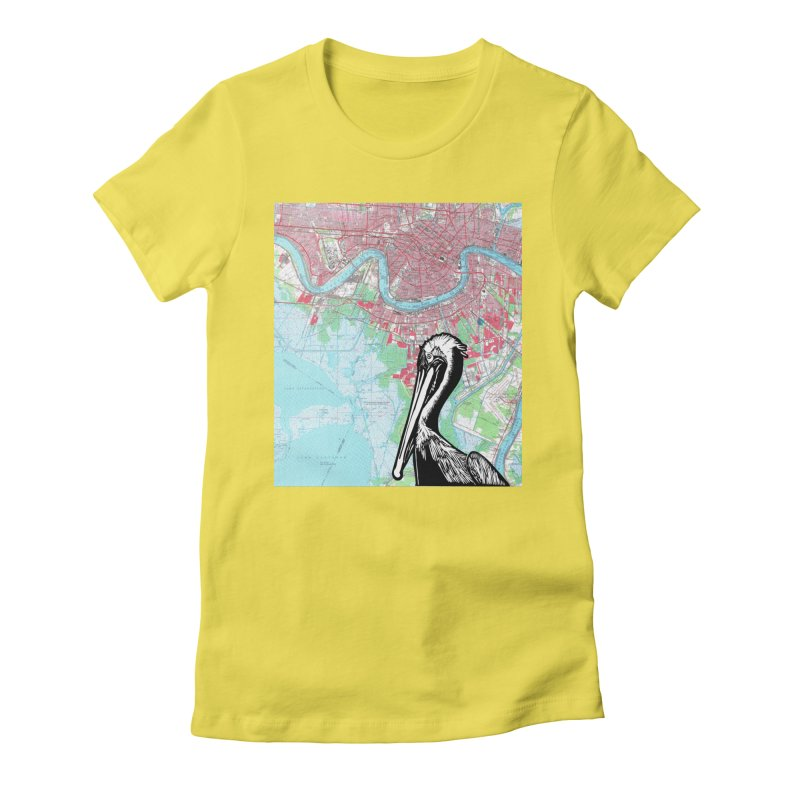 New Orleans Pelican Women's T-Shirt by BareBonesStudio's Artist Shop