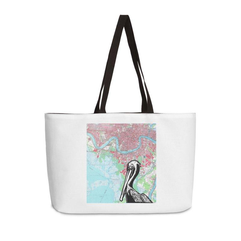 New Orleans Pelican Accessories Bag by BareBonesStudio's Artist Shop