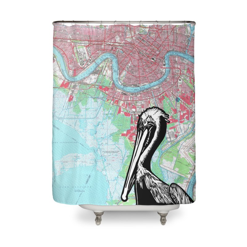 New Orleans Pelican Home Shower Curtain by BareBonesStudio's Artist Shop