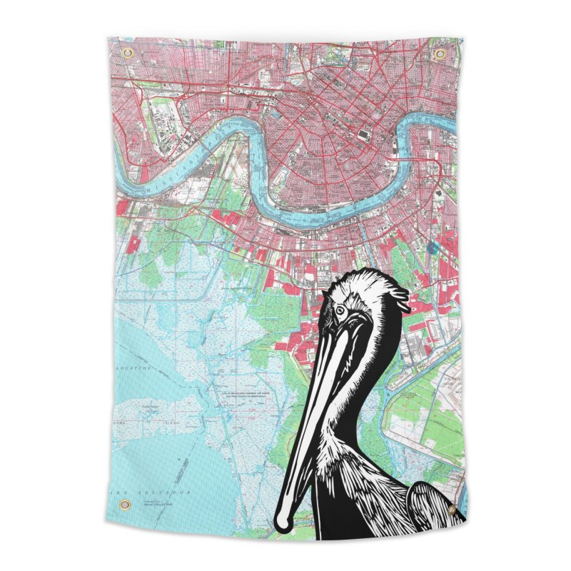New Orleans Pelican Home Tapestry by BareBonesStudio's Artist Shop