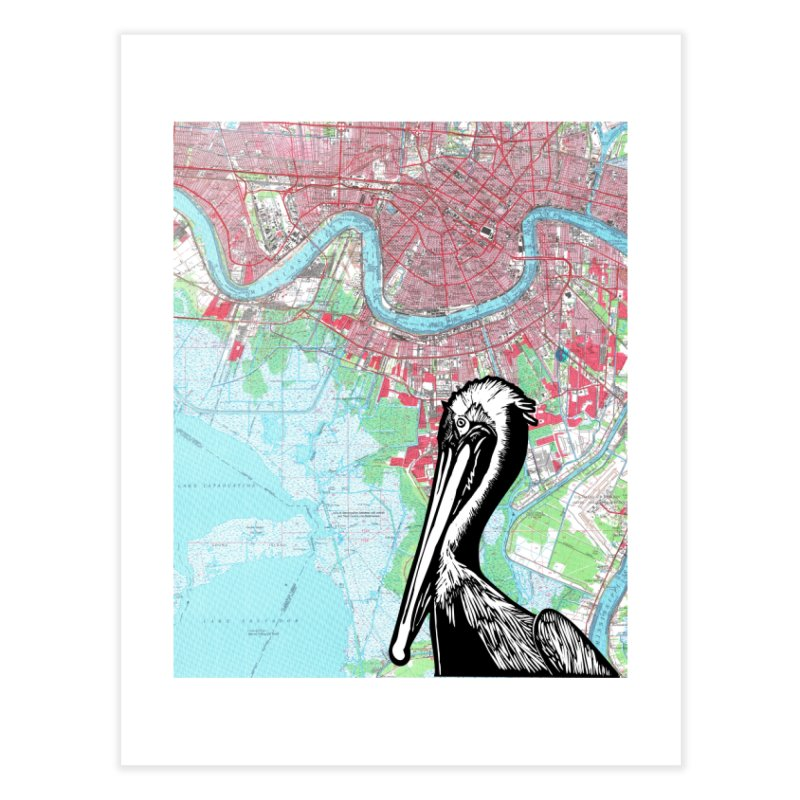 New Orleans Pelican Home Fine Art Print by BareBonesStudio's Artist Shop