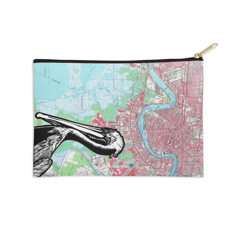 New Orleans Pelican Accessories Zip Pouch by BareBonesStudio's Artist Shop