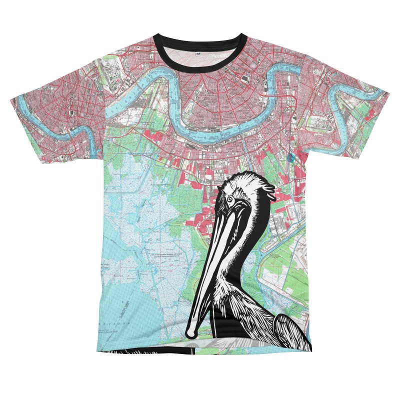 Pelican Map New Orleans Men's Cut & Sew by BareBonesStudio's Artist Shop