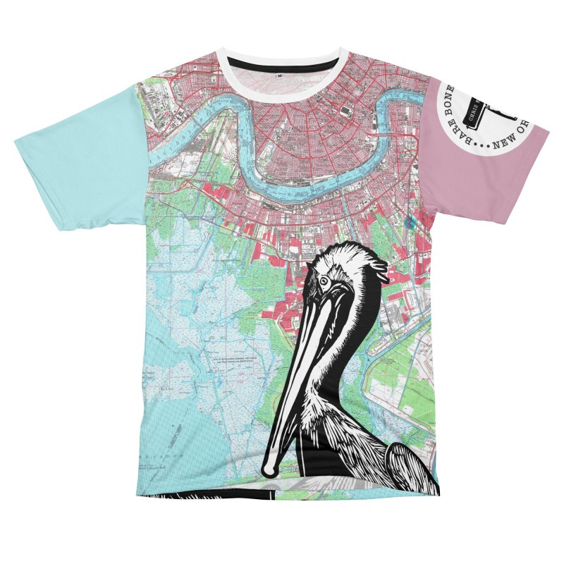 Pelican Pink & Blue Men's Cut & Sew by BareBonesStudio's Artist Shop