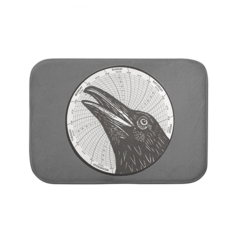 Calling Crow Home Bath Mat by BareBonesStudio's Artist Shop