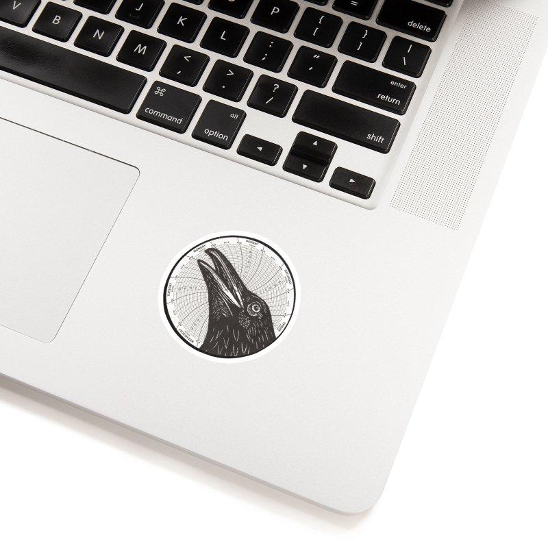Calling Crow Accessories Sticker by BareBonesStudio's Artist Shop