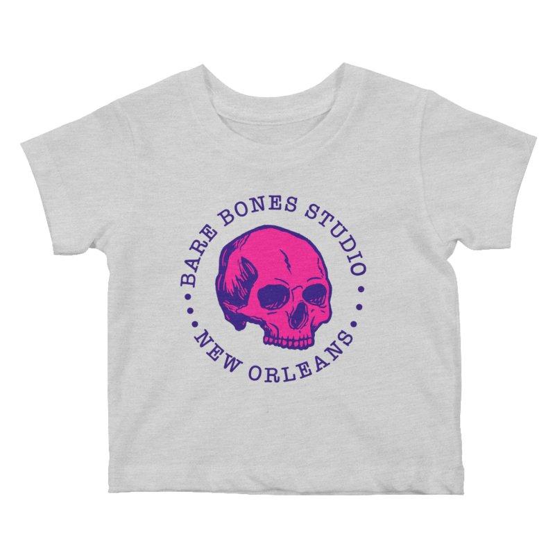 Bare Bones Studio Skull Kids Baby T-Shirt by BareBonesStudio's Artist Shop