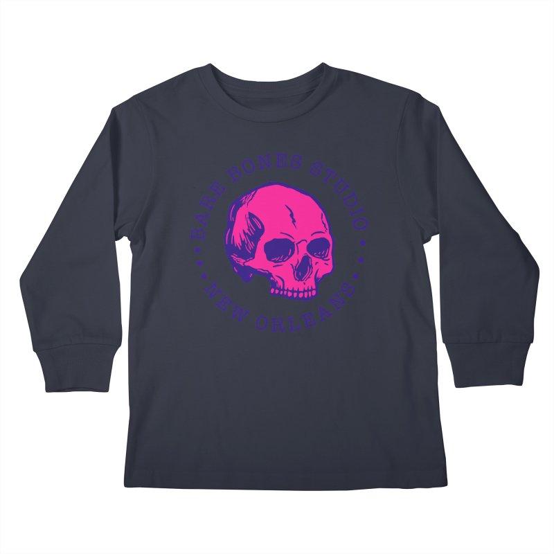 Bare Bones Studio Skull Kids Longsleeve T-Shirt by BareBonesStudio's Artist Shop