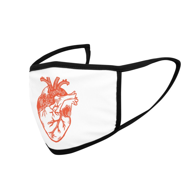 Heart Accessories Face Mask by BareBonesStudio's Artist Shop