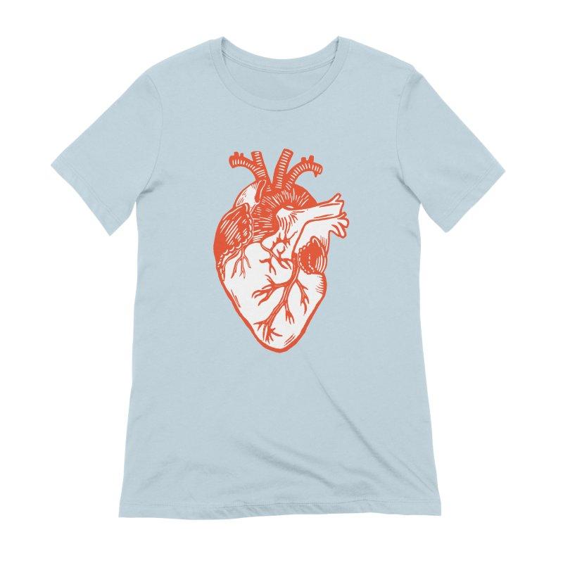 Heart Women's T-Shirt by BareBonesStudio's Artist Shop
