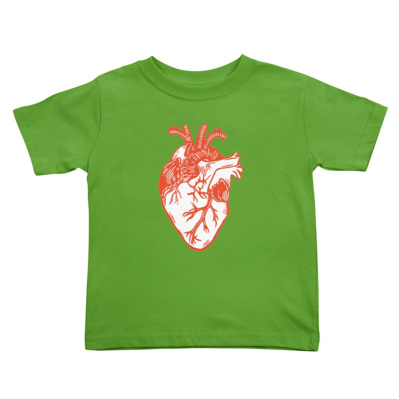 Heart Kids Toddler T-Shirt by BareBonesStudio's Artist Shop