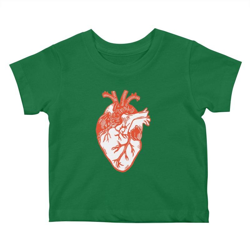 Heart Kids Baby T-Shirt by BareBonesStudio's Artist Shop