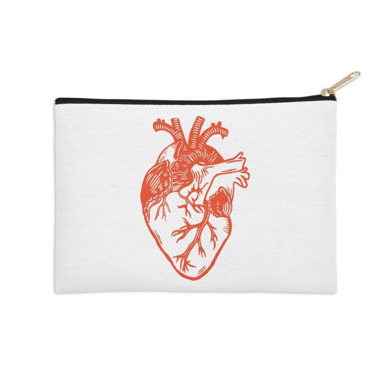 Heart Accessories Zip Pouch by BareBonesStudio's Artist Shop