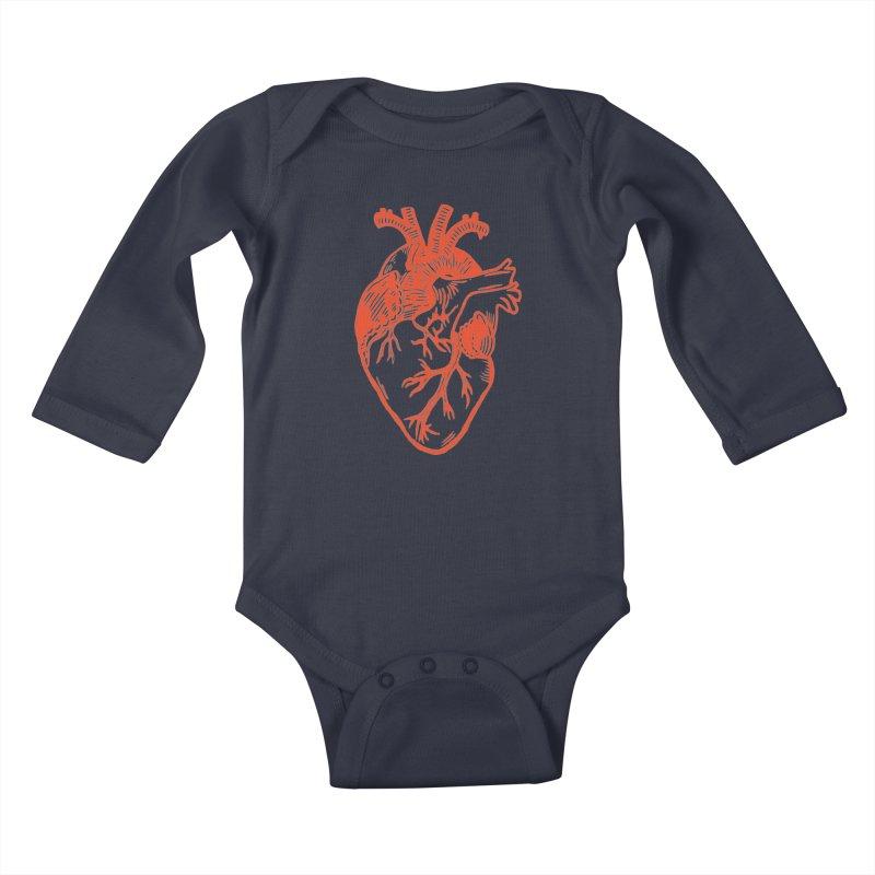 Clear Heart in Kids Baby Longsleeve Bodysuit by BareBonesStudio's Artist Shop