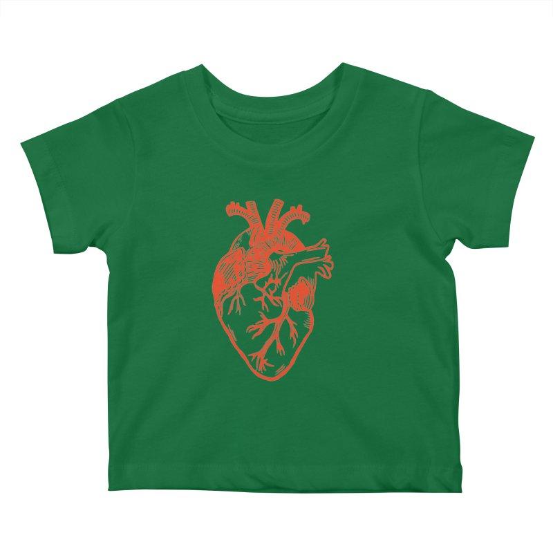 Clear Heart in Kids Baby T-Shirt by BareBonesStudio's Artist Shop