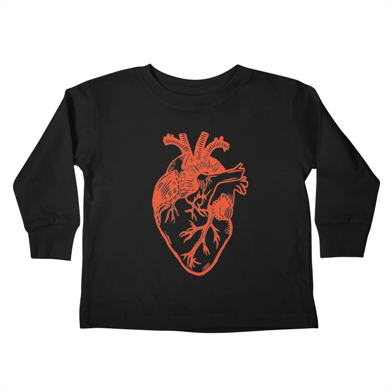 Clear Heart in Kids Toddler Longsleeve T-Shirt by BareBonesStudio's Artist Shop