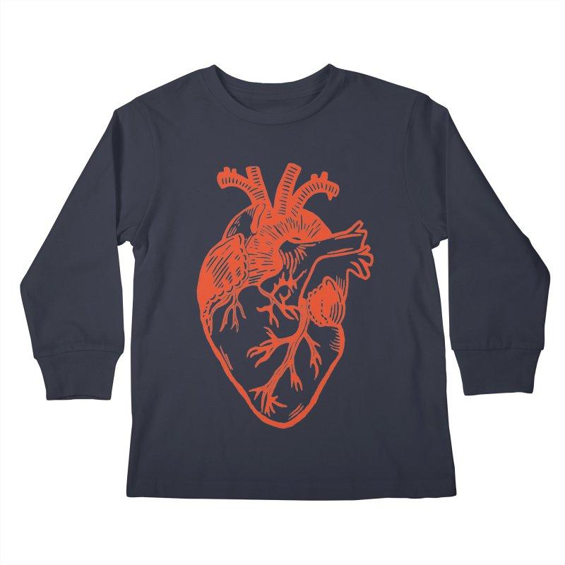 Clear Heart in Kids Longsleeve T-Shirt by BareBonesStudio's Artist Shop
